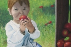 Maxime dans les pommes