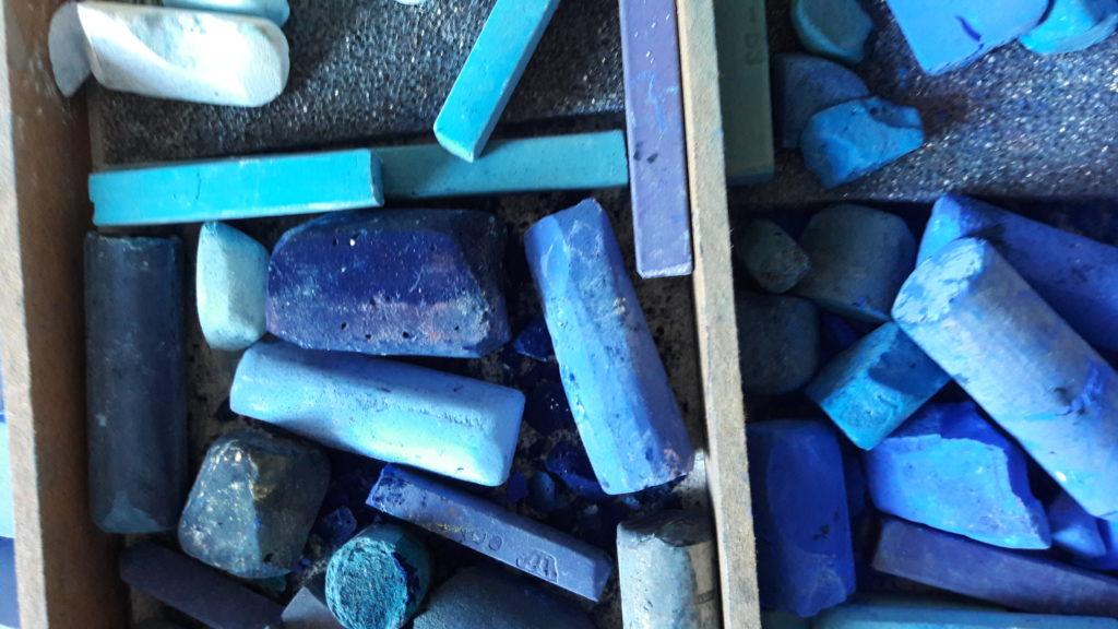 pastels bleus